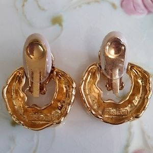 essex Jewelry - Essex clip on earrings gold tone